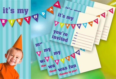 kid s birthday printable invite thank you sew4home