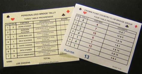 two table progressive tally 4 table progressive tally sheet euchre table
