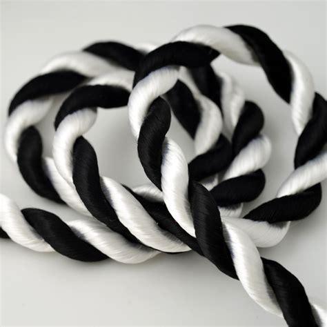 Kaos Lucky 24 Black White Lp 1 8mm twisted craft cord trim sch 24 2