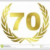 70 Anniversary Royalty Free Stock Photo - Image: 8592925