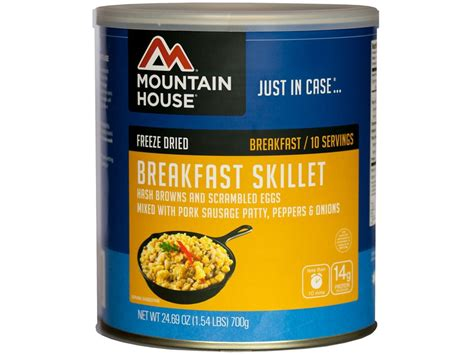 mountain house freeze dried food mountain house 10 serving breakfast skillet freeze dried food 10 can