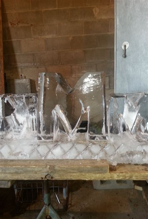 Muzzy Ice Service - Ice Sculptures / Ice Carvings for ... M Letter In Diamond