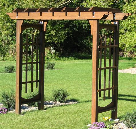 building an arbor trellis how to build an arbour on a low budget