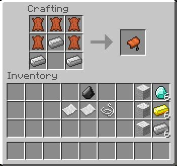 Survival craftable horse armor saddles nametags our servers recipes minecraft server join