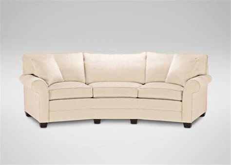 conversation sofas furniture bennett roll arm conversation sofa ethan allen
