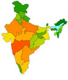 India Outline Map Coloured by India Map Blank Png Clipart Best