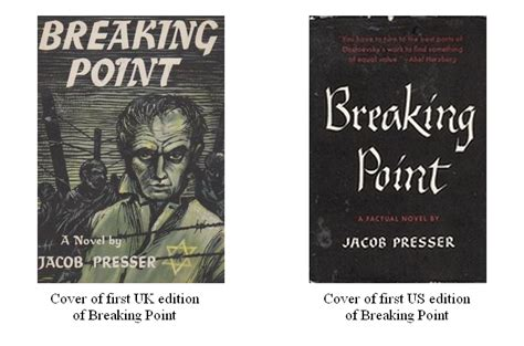 breaking point novels books breaking point by jacob presser 1958 the neglected