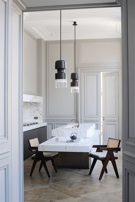 parisian kitchen design a apartment by joseph dirand in germain des pr 233 s yatzer