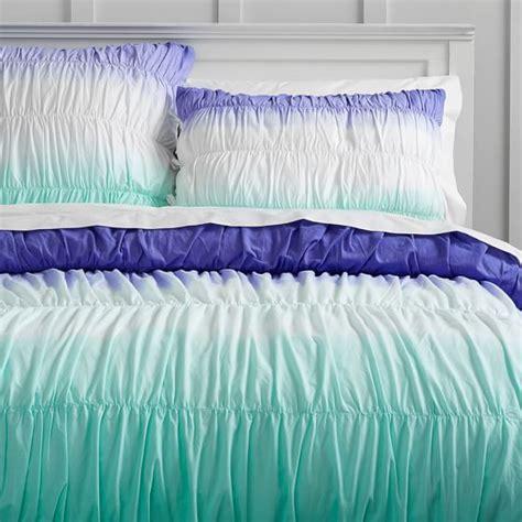 Dip Dye Comforter by Surf Dip Dye Ruched Duvet Cover Sham Pbteen