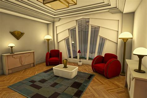 Art Deco Living Rooms | classic art deco living room by liam liberty