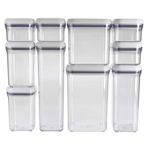 oxo storage containers oxo grips pop storage container set 10