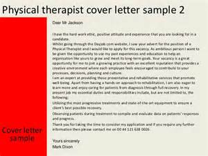 Work Experience Letter Physiotherapist Physical Therapist Cover Letter