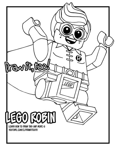 lego robin the lego batman movie draw it too