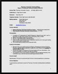 pharmacy technician resume exles document