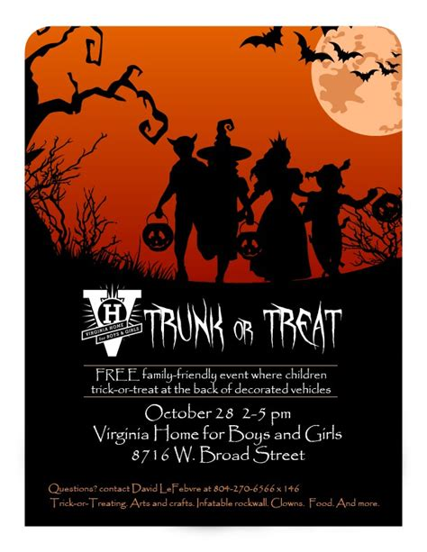 trunk or treat flyer richmondmom com