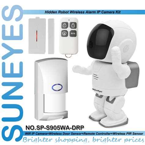 Ip Hd 13mp Robot suneyes sp s905wa drp wifi alarm robot ip wireless 1 3mp hd with 1pcs door sensor 1pcs