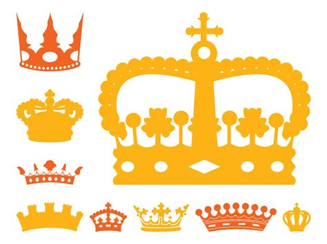 royal crowns set vector art amp graphics freevector com