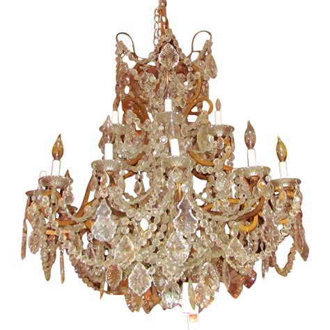Chandelier Antique Large Antique European Chandelier Circa 1910 From Flanagan Laneantiques On Ruby