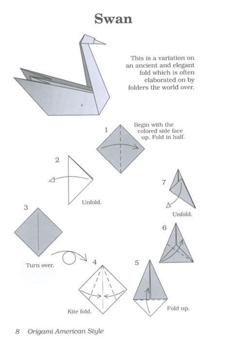 Origami Swan Printable - how to origami bird