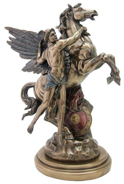greek god statue perseus and pegasus statue sculpture figurine antique