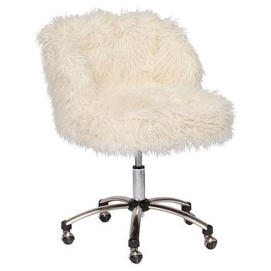 Fuzzy Desk Chair by Fuzzy Chairs Sofas And Beanbags Pbteen