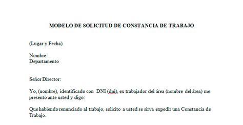 constancia de trabajo ejemplo en word modelo de solicitud de constancia de trabajo ejemplo solicitud