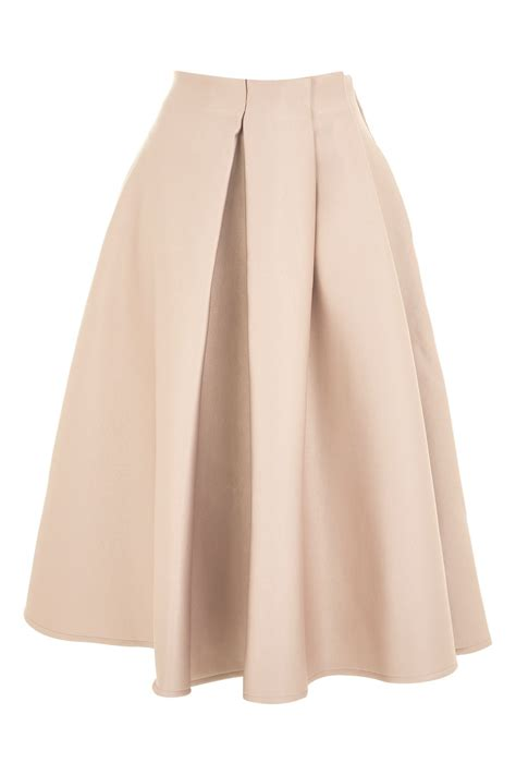 pleat front prom skirt topshop