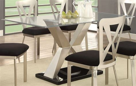 black and silver dining room set kera silver and black dining room set cm3725t table