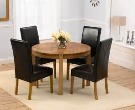 Circle Dining Table And Chairs Savanna Oak Dining Table Size 110cm 4 Monaco