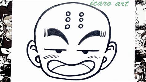 imagenes de krilin para dibujar faciles como dibujar a krilin how to draw krillin youtube