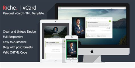 demdous mobile vcard template by thememarket themeforest riche vcard personal vcard html template by hamzh