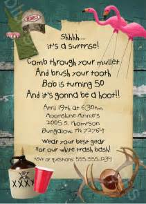 white trash bash tailgate cook out printable invitation language and