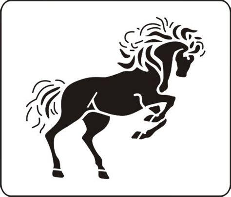 horse stencil clipart best