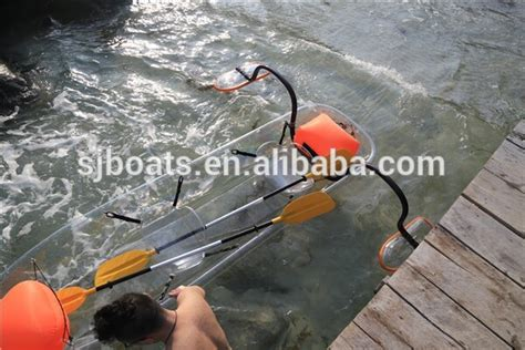 clear bottom boat clear bottom plastic kayak clear boat with unique shape