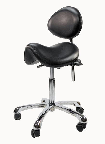 Stool Chair With Back by Spa Luxe Rolling Saddle Stool Chair With Back Support