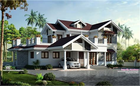 Beautiful House Plans by Beautiful Villa Design In 2750 Sq Kerala Home