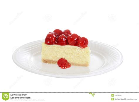 Cheesecake Gift Card Free Slice - isolated slice cherry cheesecake royalty free stock images image 29075139