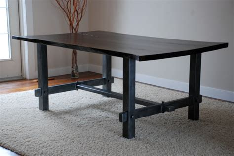 Steel Dining Room Table Steel Dining Room Table Traditional Dining Tables Calgary By Wood And Steel
