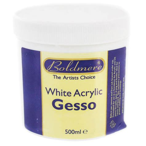 acrylic paint white white acrylic gesso 500ml acrylic paint at the works