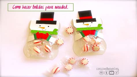 bolsas de dulces para navidad bolsita para dulces en navidad youtube