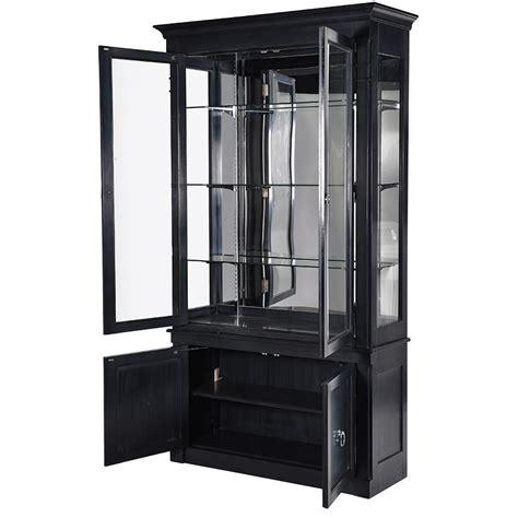 2 door display cabinet chelsea black 2 door display cabinet la maison chic