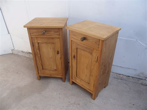 tall bedside cabinets cracking pair of victorian antique pine tall bedside