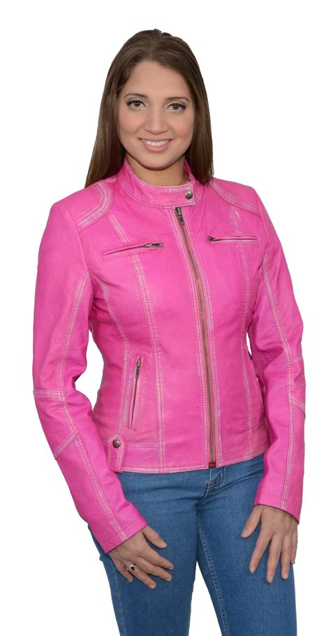 pink leather motorcycle jacket pink sheepskin leather motorcycle jacket scuba style