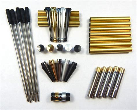 Mainan Fancy Kit Set woodturning fancy slimline mixed pen kit sets x 5 set no 3 free postage ebay