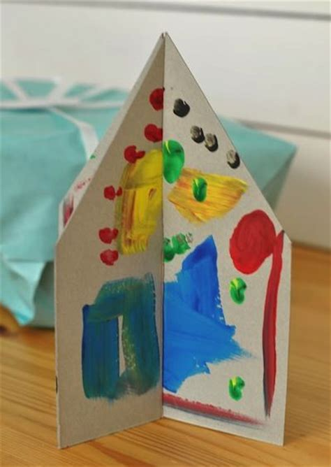 crafty house cardboard house craft for kids arts school pinterest cardboard houses fact