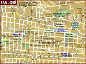 San Jose Cr Map by Map Of San Jose