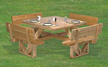square picnic table plans wooden square picnic table plans woodideas