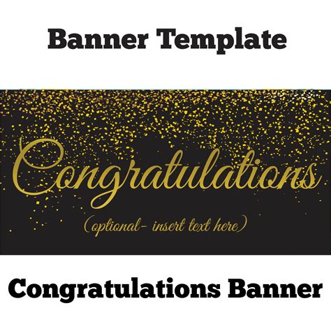 congratulations banner template best high quality