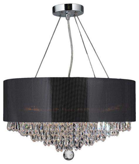 Black Acrylic Chandelier 8 Light Chrome Crystal Ball Prism Chandelier Black Acrylic
