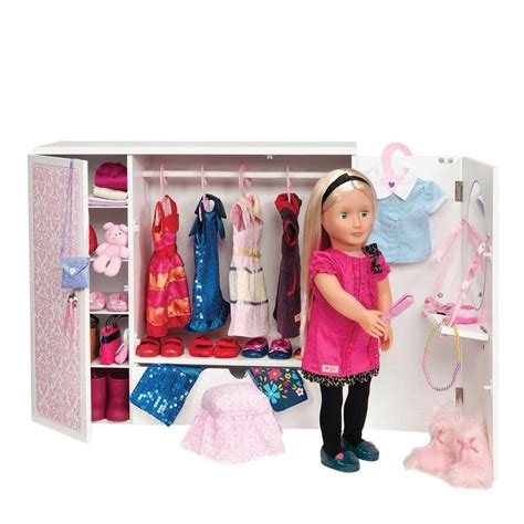 Our Generation Closet by Our Generation 18 Quot Dolls Wooden Wardrobe Clothes Fashion